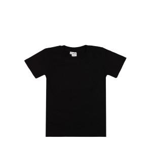 Детская промо футболка Стандарт (черная, короткий рукав) Органический 100% хлопок