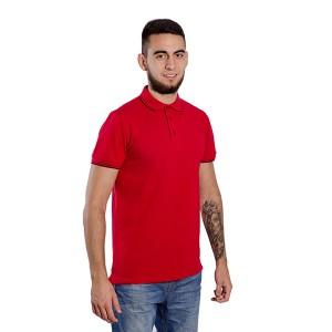 """Рубашка поло мужская """"Премиум"""" (красная, короткий рукав)"""
