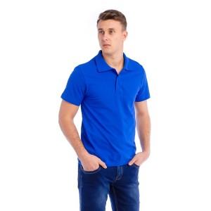 Рубашка поло мужская (синий рояль, короткий рукав)