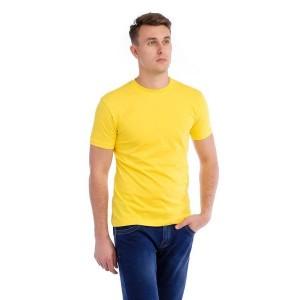 Мужская промо футболка Эконом (лимонная, короткий рукав) Органический 100% хлопок