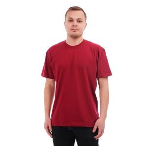 Мужская промо футболка 100% хлопок (бордовая, короткий рукав)