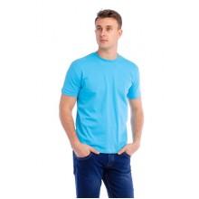 Мужская промо футболка Стандарт (голубая, короткий рукав) Органический 100% хлопок