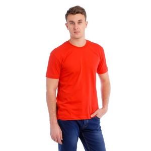 Мужская промо футболка 100% хлопок (красная, короткий рукав)