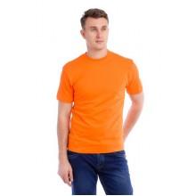 Мужская промо футболка 100% хлопок (оранжевая, короткий рукав)