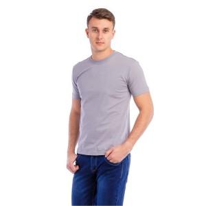 Мужская промо футболка 100% хлопок (серая, короткий рукав)