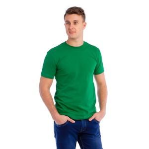 Мужская промо футболка Стандарт (зеленая, короткий рукав) Органический 100% хлопок