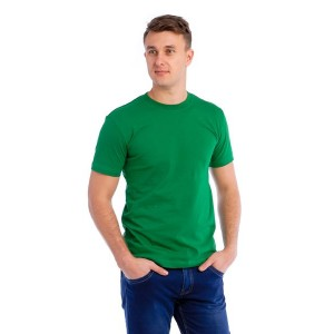 Мужская промо футболка 100% хлопок (зеленая, короткий рукав)
