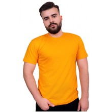 Мужская промо футболка Стандарт (желтая, короткий рукав) Органический 100% хлопок