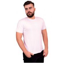 Мужская промо футболка с лайкрой (белая, короткий рукав)