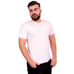 Мужская промо футболка 100% хлопок (белая, короткий рукав)