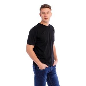 Мужская промо футболка Стандарт (черная, короткий рукав) Органический 100% хлопок