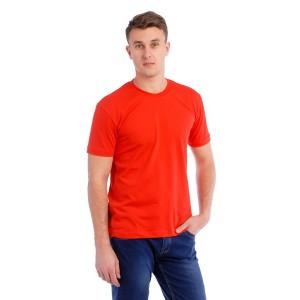 Мужская промо футболка Стандарт (красная, короткий рукав) Органический 100% хлопок