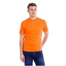 Мужская промо футболка Стандарт (оранжевая, короткий рукав) Органический 100% хлопок