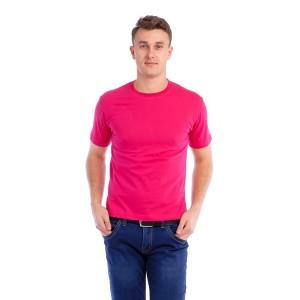 Мужская промо футболка Стандарт (розовая, короткий рукав) Органический 100% хлопок