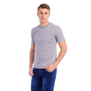 Мужская промо футболка Стандарт (серая, короткий рукав) Органический 100% хлопок
