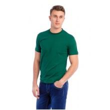 Мужская промо футболка Стандарт (темно-зеленая, короткий рукав) Органический 100% хлопок
