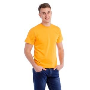 Мужская промо футболка 100% хлопок (желтая, короткий рукав)