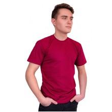 Мужская промо футболка Эконом (бордовая, короткий рукав) Органический 100% хлопок