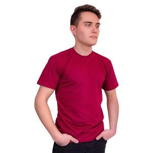 Мужская промо футболка Стандарт (бордовая, короткий рукав) Органический 100% хлопок