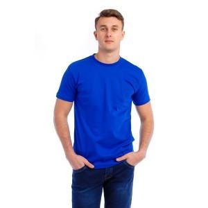 Мужская промо футболка Стандарт (ярко-синяя, короткий рукав) Органический 100% хлопок