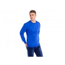 Мужская толстовка  (синяя) Органический 100% хлопок