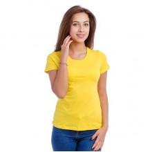 Женская промо футболка Эконом (лимонная, короткий рукав) Органический 100% хлопок
