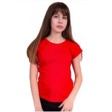 Женская промо футболка Эконом (красная, короткий рукав) Органический 100% хлопок