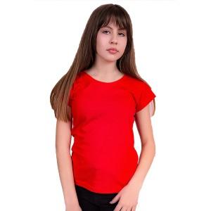 Женская промо футболка Стандарт (красная, короткий рукав) Органический 100% хлопок