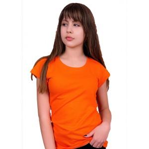 Женская промо футболка Стандарт (оранжевая, короткий рукав) Органический 100% хлопок