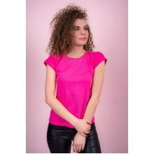 Женская промо футболка Эконом (розовая, короткий рукав) Органический 100% хлопок