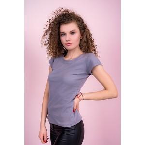 Женская промо футболка Стандарт (серая, короткий рукав) Органический 100% хлопок