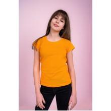 Женская промо футболка Эконом (желтая, короткий рукав) Органический 100% хлопок