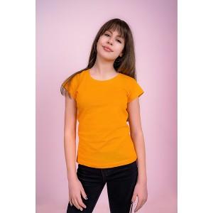 Женская промо футболка Стандарт (желтая, короткий рукав) Органический 100% хлопок