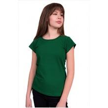 Женская промо футболка Стандарт (темно-зеленая, короткий рукав) Органический 100% хлопок