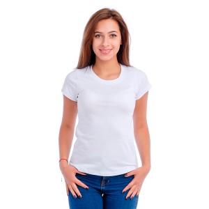 Женская промо футболка 100% хлопок (белая, короткий рукав)