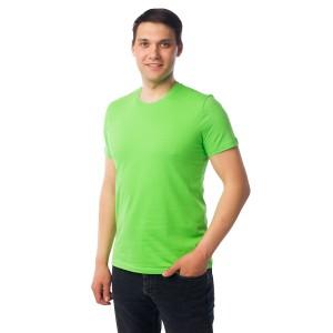 Мужская промо футболка Эконом (салатовая, короткий рукав) Органический 100% хлопок
